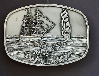USS Constitution-USC6 Eagle Pewter Buckle.
