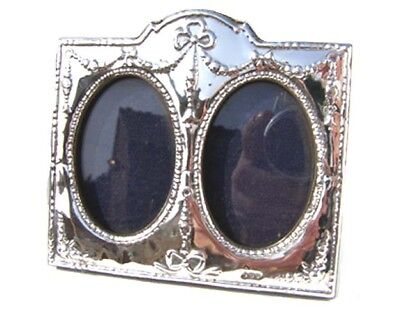 Double Silver Picture Frame.  Hallmarked Silver Regency Style Twin Photo Frame