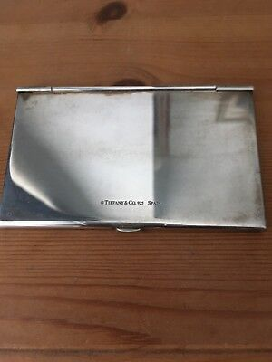 Tiffany &Co Business Card Case Solid Sterling Silver.