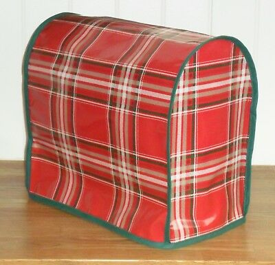 Green Edged Tartan OILCLOTH Cover for KitchenAid and Kenwood kMix Food Mixers