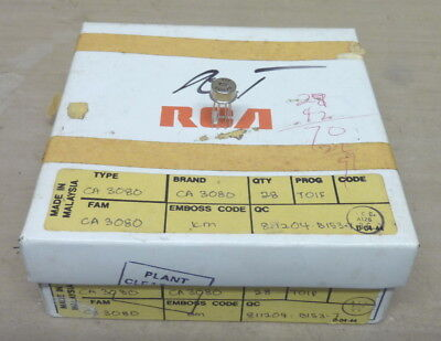 GENUINE NOS - RCA CA3080 Transconductance AMP - TO-5 Metal Can