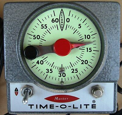Master Time-O-Lite Photographic Timer Model M-72 Automatic Re-Set-Mint in Box