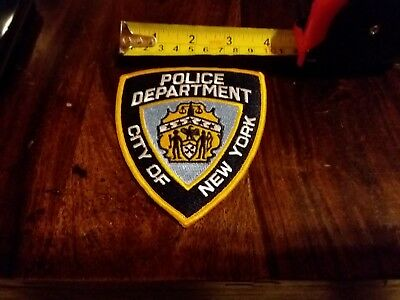 New York City Police NYPD Shoulder Patches -New- Authentic- You Get 2 !