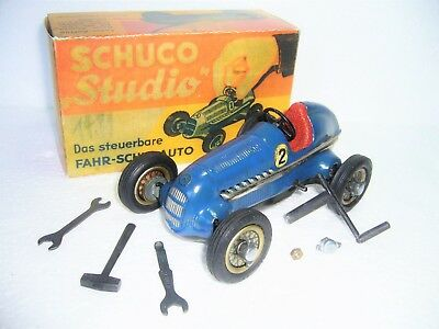 Schuco 1050 STUDIO Mercedes Silberpfeil Uhrwerk Maßst. 1:24 made in Germany 1936