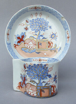 Very rare Masons ironstone cup and saucer with integrated handle c 1825