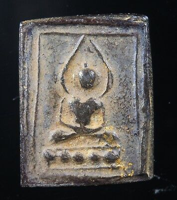"Rare Antique!!""Old Thai Buddha"" Genuine,Thai Amulet,Rich Luck.Protection."