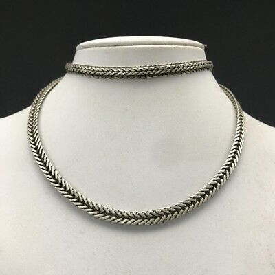 Collection China Tibet silver necklace.