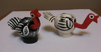 Holiday Art Unique Collectible Bobble Head Turkeys Handmade/Painted