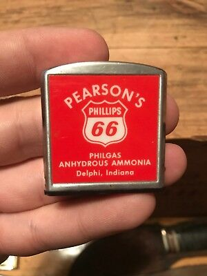 Pearsons Delphi Indiana Vintage Tape Measure Phillips 66 Gas Oil Barlow