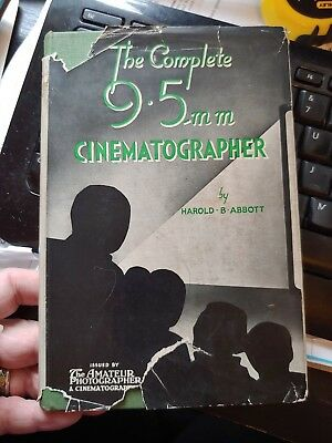 vintage THE COMPLETE 9.5MM CINEMATOGRAPHER HB BOOK PHOTOGRAPHY CAMERA