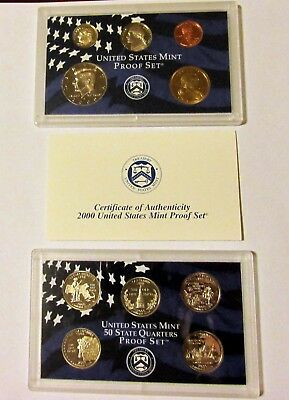 2000 S US Mint Proof 10-Coin Set, Certificate of Authenticity