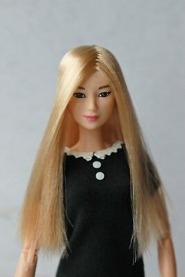 Blond Long wig for Barbie doll 4 inch