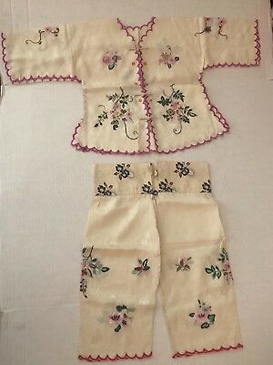Antique Chinese Embroidery Silk Embroidered Child Clothes China