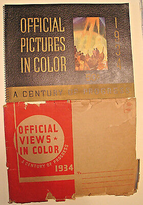 1934 Chicago World's Fair Century of Progress OFFICIAL PICTURES IN COLOR Envelop