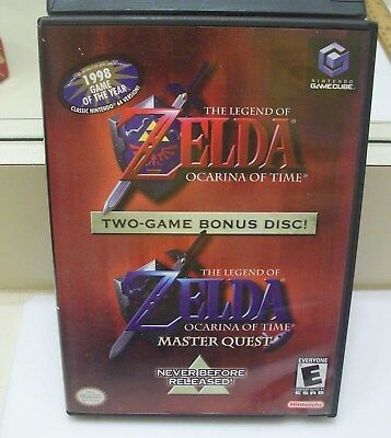 Nintendo GameCube 2-Game Bonus, ZELDA Ocarina of Time & Master Quest, Complete