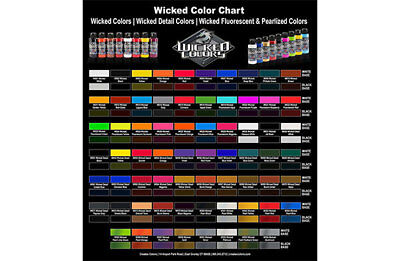 Createx Wicked Colors WaterBased Universal Airbrush Paint 16oz Choose your Color