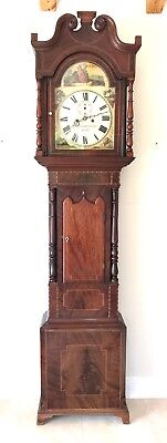 A Good Arch Dial Mahogany Curl Longcase By Holme And Smithard Of Derby