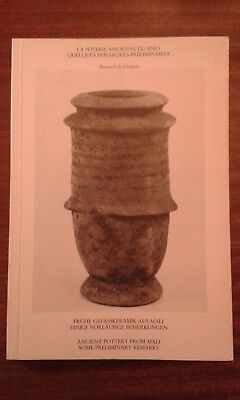book catalogue african art ancient pottery from Mali Bernard de Grunne