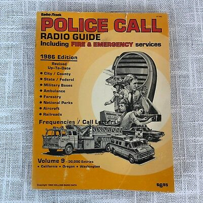 RADIO SHACK POLICE Scanner Call Guide 1986 Edition Vintage