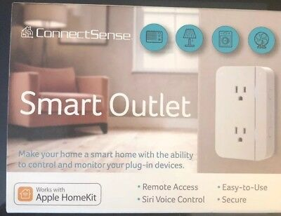 CONNECTSENSE SMART OUTLET with Apple HomeKit Technology
