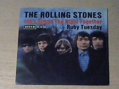 """7"""" THE ROLLING STONES * Let`s Spend The Night Together / Ruby Tuesday"""