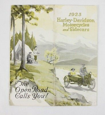 1923 Harley-Davidson Motorcycles and SideCars Brochure