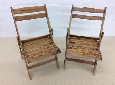 A Miniature Pair Of Bamboo Chairs