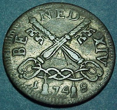 Italy Italian States - Papal States - 1748 BE - 4 Baiocchi - Old Billon Coin