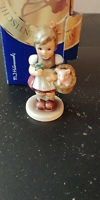 Authentic Hummel Good Luck Charm First Edition 2002 Mib 4 1/2 Inches