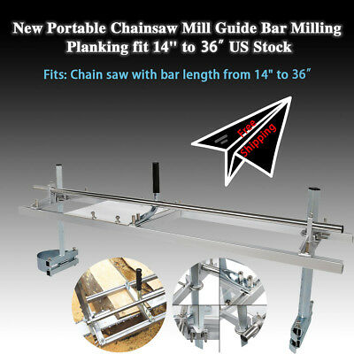 """Portable Chain Saw Mill Aluminum Steel Planking Lumber Chainsaw Mill  14""""-36"""""""