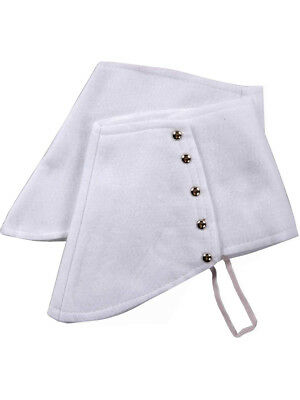Adult Roaring 20s Gangster Costume White Fabric Spats