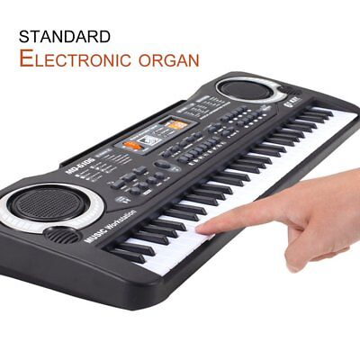 61 Keys Electronic Piano Keyboard With Microphone Children Musical Instrument E@