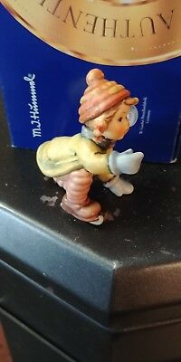 Authentic Hummel  Skating Lesson 3 1/2 Inches Mib From 1998 Signed Teude??
