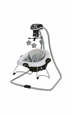 Graco DuetConnect LX w/ Multi-Direction Baby Swing & Bouncer - Asher / Gray USED