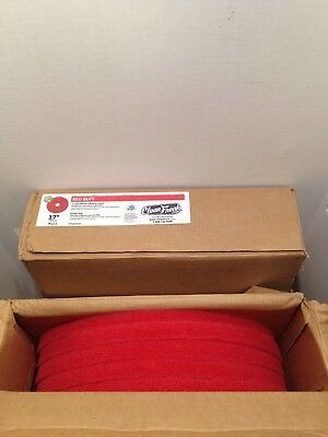 "Clean Freak 17"" Red Buffing Floor Pads 404417-800Rpm - 5 Pad Pack - Lot Of 2"