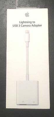 Apple Lightning to USB 3 Camera Adapter MK0W2AM/A for iPads iPhone