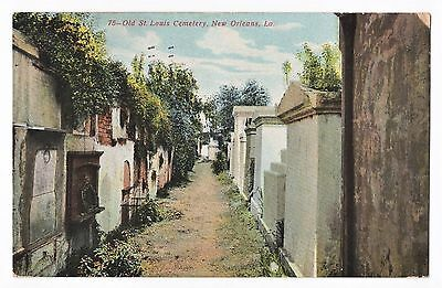 Early 1900s Vintage New Orleans Postcard Old St. Louis Cemetery - Louisiana