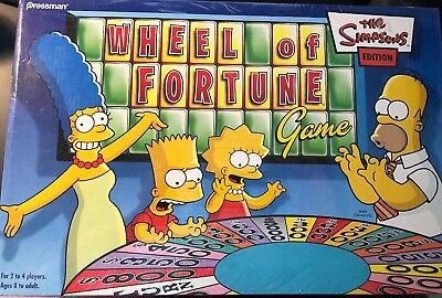 The Simpson's Wheel of Fortune Board Game 2004 Brand New Factory Sealed