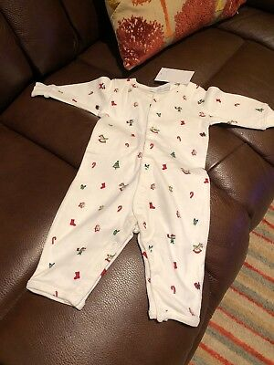 The Little White Company Christmas Unisex Babygrow Grow 0-3 mths BNWT