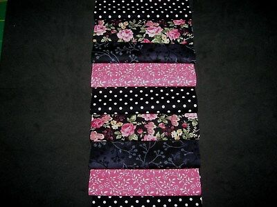 """**CLEARANCE**40 x 4"""" SQUARES CHARM PACK PINK&BLACK   100% COTTON PATCHWORK ACP"""