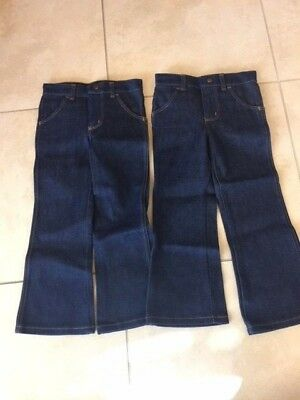 VTG Lot Of 2 Wrangler Boy's Regular Boot Flare Jeans Denim No Fault Size 7  REG
