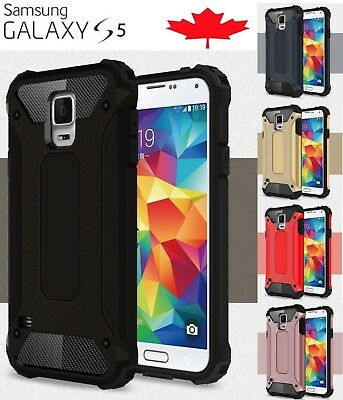For Samsung Galaxy S5 Shockproof Hybrid Armour Dual Layer Tough Case Cover