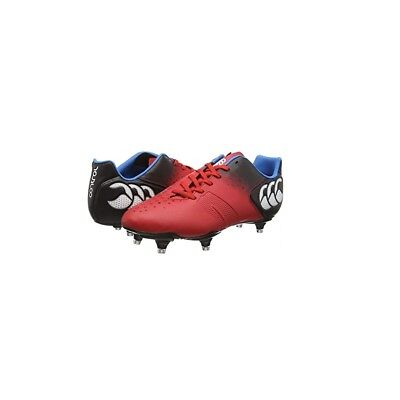Canterbury Control Club 6 Stud, Men's Rugby Boots, Red - 9.5 UK
