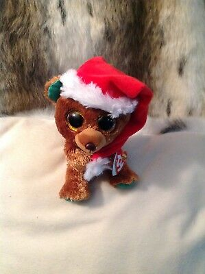"Nicholas The Beanie Boo Christmas Bear /walgreens Exclusive /mwmt 6""  New 🌈sale"
