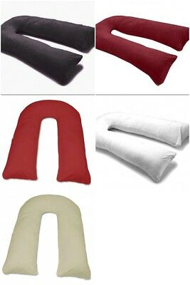 12 Ft Comfort U Pillow Full Body Maternity Pregnancy Support Cover Case