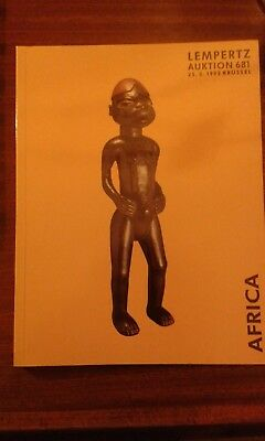 African and Oceanic art book auction catalogue Lempertz 1992 Brussels