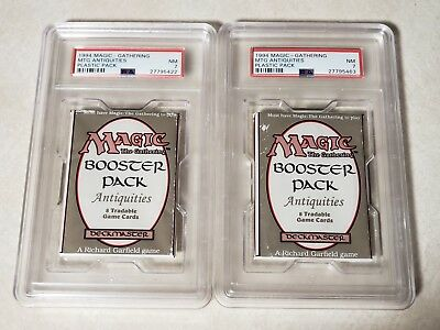 Magic the Gathering Booster Pack Lottery Top 2 Prizes Graded Antiquities Booster