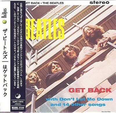 BEATLES GET BACK CD MINI LP w/ OBI+Bonus Tr. (Harrison Lennon McCartney Starr)