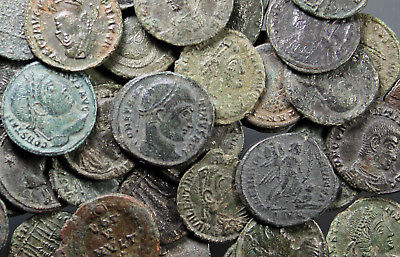 Bulk-Lot, 47 Roman Imperial coins, attractive, all different, 4th century A.D.