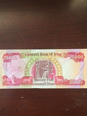 25000 Iraqi Dinar Authentic  Uncirculated & Sequential!